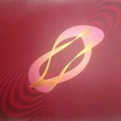 Three Elements: Gold (screen-printed harmonograph)